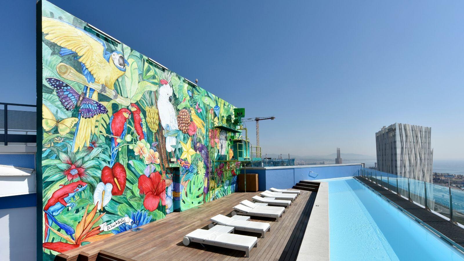 Terrasse et piscines hotel barcelona princess congr s - Barcelone hotel piscine interieure ...